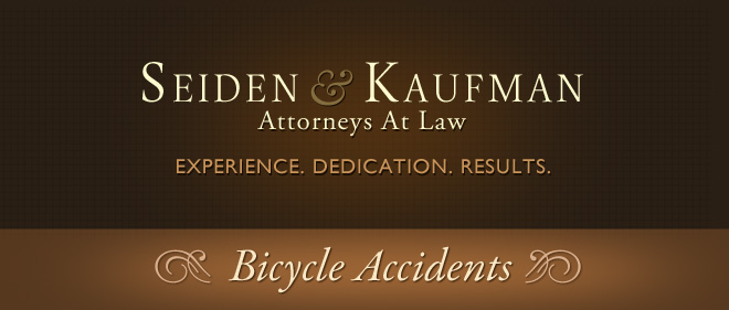 Bicycle Accidents Seiden and Kaufman Attorneys at Law